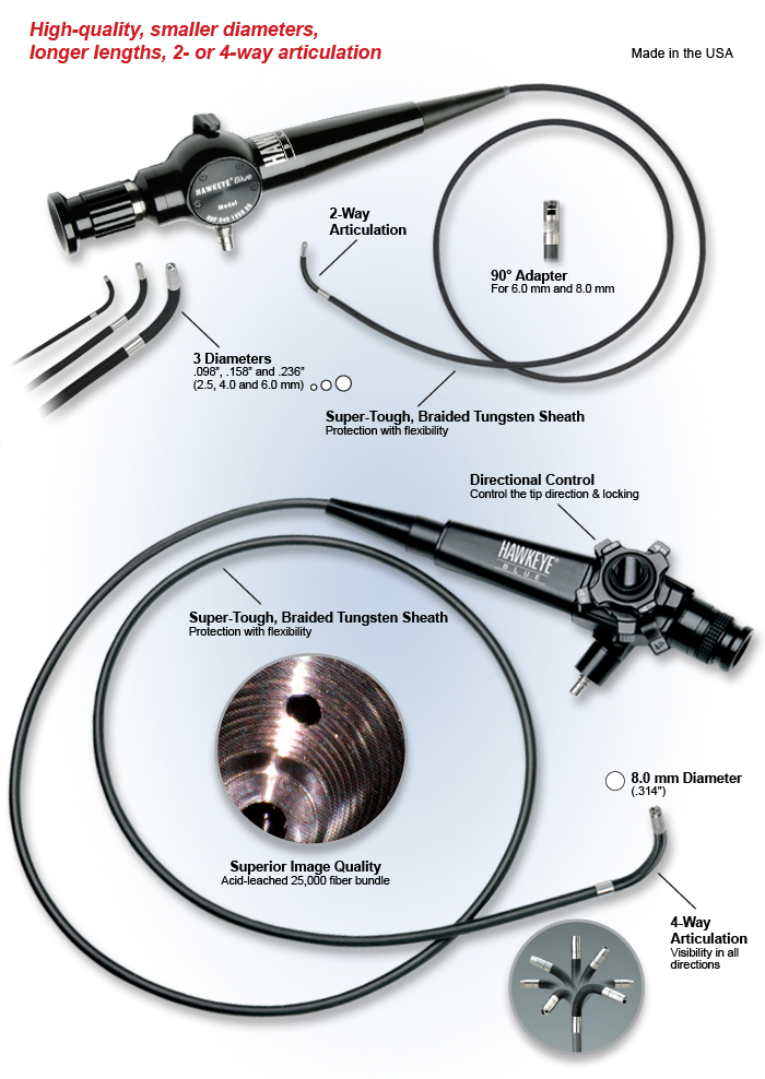 Optimx Blue Flexible Borescope Industrial endoscope camera kit