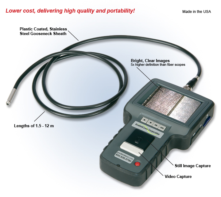 Optimax Hawkeye Classic Video Screen Portable Flexible Borescope Overview